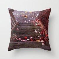 Autumn Stairs Throw Pillow