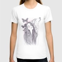 Wolf To The Moon Womens Fitted Tee White SMALL