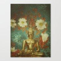 Retro Buddha Canvas Print
