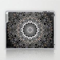GOLD FLORAL MANDALA Laptop & iPad Skin