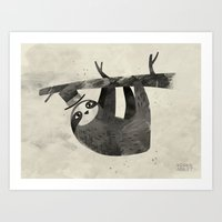 Mr. Sloth Art Print