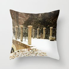 A winter crossing Throw Pillow