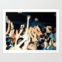 Stage Diving Art Print