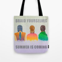 Braid Yourselves Tote Bag