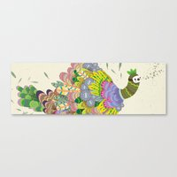 Cloud Peacock Canvas Print