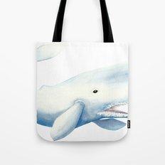 Nautical Whale Watercolor Tote Bag