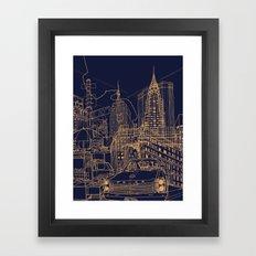 New York! Night Framed Art Print
