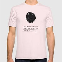 THIS WORLD Mens Fitted Tee Light Pink SMALL