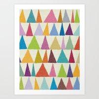 Analogous Shapes In Bloo… Art Print