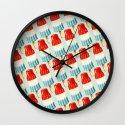 Bomp Pop Pattern Wall Clock