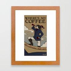 Where Is My Coffee Framed Art Print