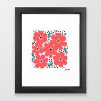 Big Red Flowers Framed Art Print