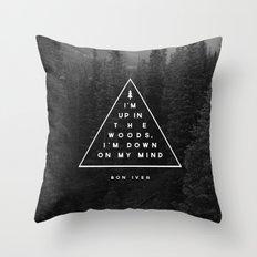Woods -- Bon Iver Throw Pillow
