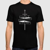 Allegiance Mens Fitted Tee Black SMALL