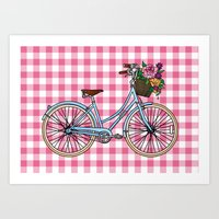 Her Bicycle Art Print