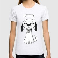 Puppy Bone Womens Fitted Tee Ash Grey SMALL