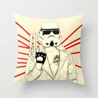 The Troopinator Throw Pillow