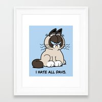 Always Grumpy Framed Art Print
