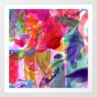 abstract bouquet Art Print