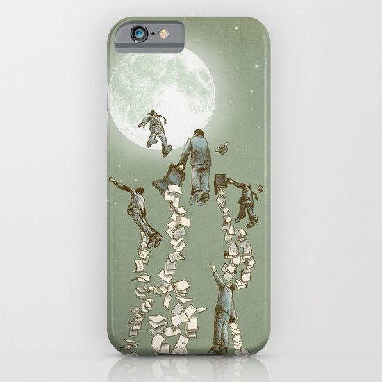 Flight of the Salary Men iPhone & iPod Case