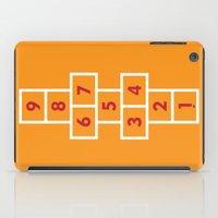 Hopscotch Orange iPad Case