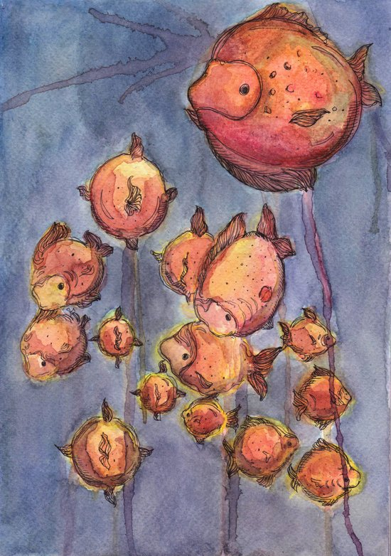 Balloon Fishes Art Print
