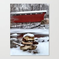 Covered Bridge Clarity Canvas Print
