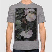 White Camellia Mens Fitted Tee Athletic Grey SMALL