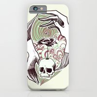 iPhone & iPod Case featuring handskull by mloyan