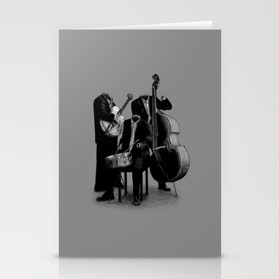 The Invisibles (On Grey) Stationery Card