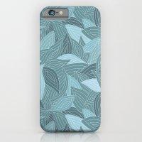 My Dancing Blue Leaves.  iPhone 6 Slim Case
