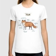 Anatomy Of A Fox Womens Fitted Tee White MEDIUM
