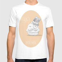 British Muffin Mens Fitted Tee White SMALL