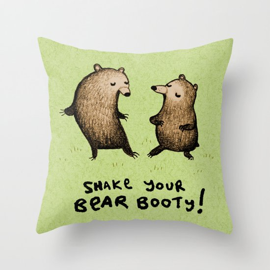 Bear Booty Dance Throw Pillow