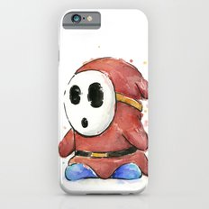 Shy Guy Watercolor Mario Art iPhone 6 Slim Case
