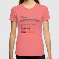 To Live A Creative Life … Womens Fitted Tee Pomegranate SMALL