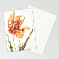 V. Vintage Flowers Botanical Print by Anna Maria Sibylla Merian - Parrot Tulip Stationery Cards