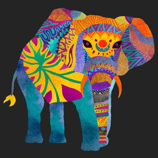 Whimsical Elephant II Art Print