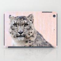 Snow Leopard in Pink iPad Case