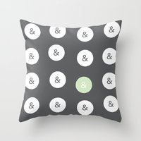 Spot Color Ampersand Throw Pillow