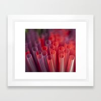 Colorful Straws Framed Art Print
