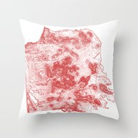 San Francisco Topography  Throw Pillow