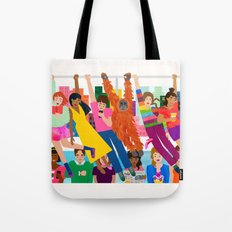 Straphangers Tote Bag