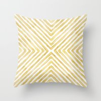 Gilded Bars Throw Pillow