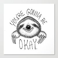 Slothspiration Canvas Print