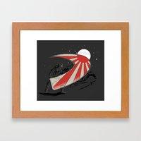 Ninja Slice II - Rising … Framed Art Print