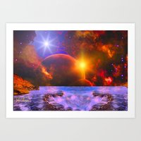 Alien coast Art Print