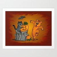 Cat, Bat, Dog And Spider… Art Print