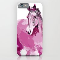 iPhone & iPod Case featuring Pink horse by Sonia B