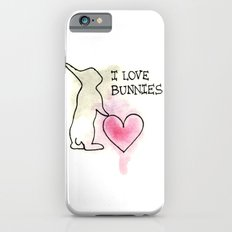 I LOVE BUNNIES iPhone 6 Slim Case